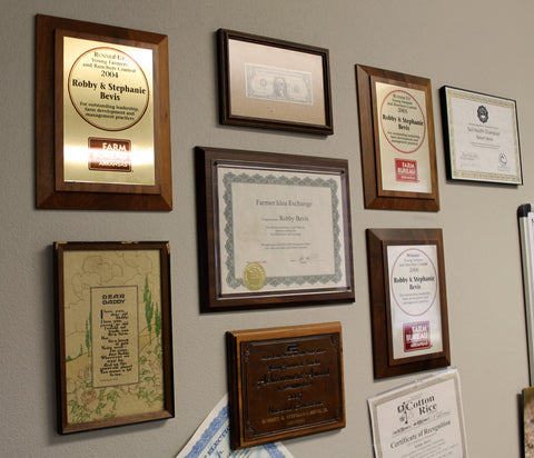 Robby and his family have won a variety of awards and honors because of their outstanding farm practices.