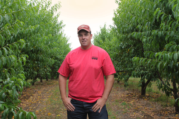 Mark Morgan, co-owner of Peach Pickin' Paradise in Lamar, Arkansas