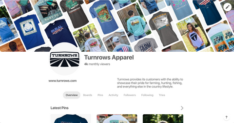 Follow Turnrows Apparel on Pinterest!