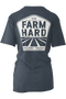 Farm Hard farmer rancher t-shirt