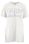 Womens farm t-shirt fashion tee