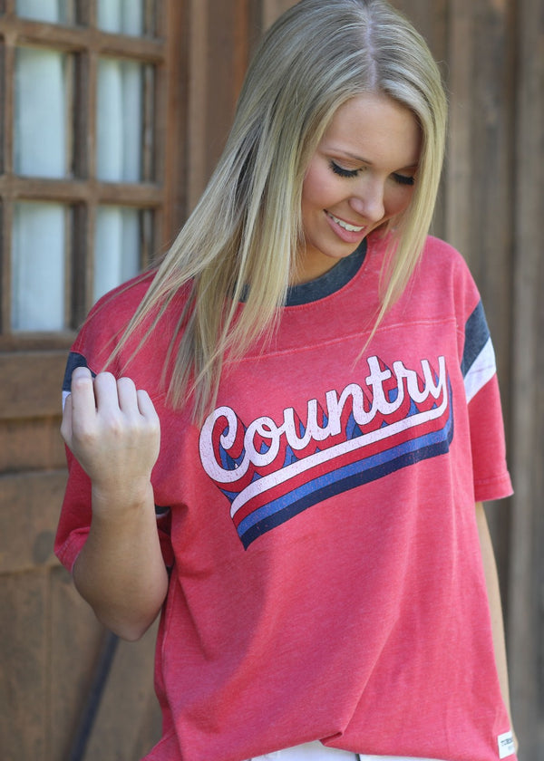 Country Script - Red