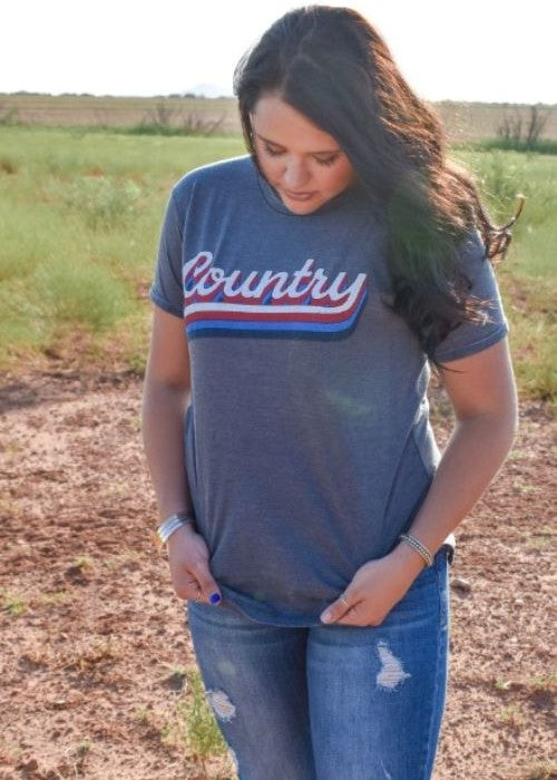 Country Script - Blue