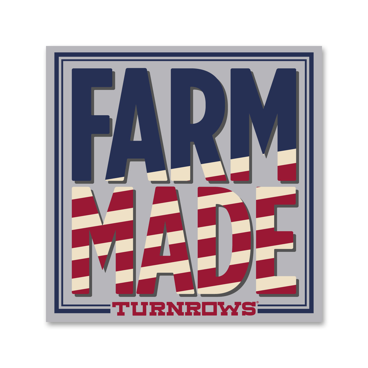 Farm Made Flag sticker
