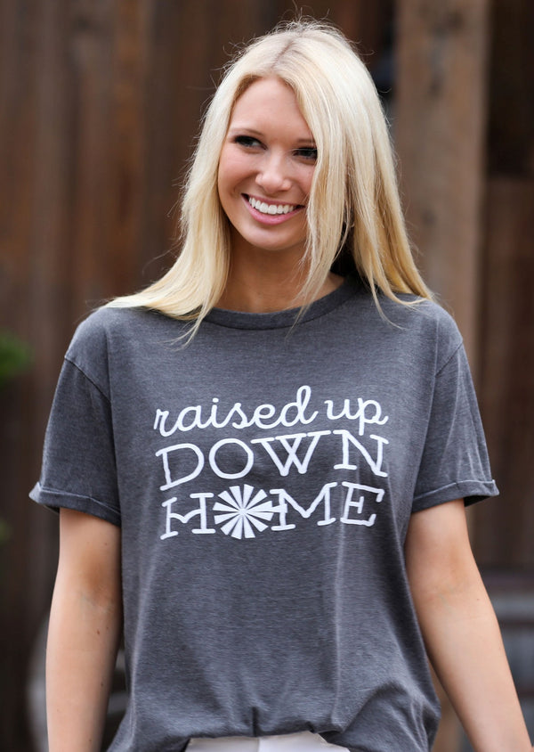 Raised Up Down Home Vintage Washed Tee