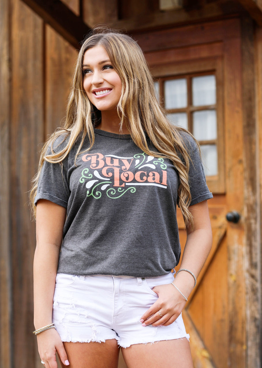 Buy Local Vintage Washed Tee