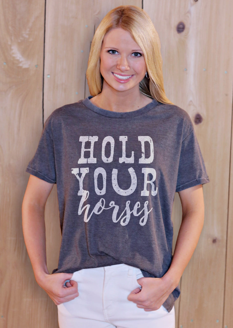 Hold Your Horses Melange Tee