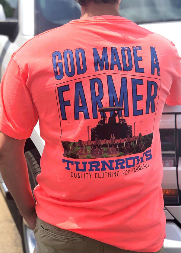 God Made a Farmer Pocket Tee