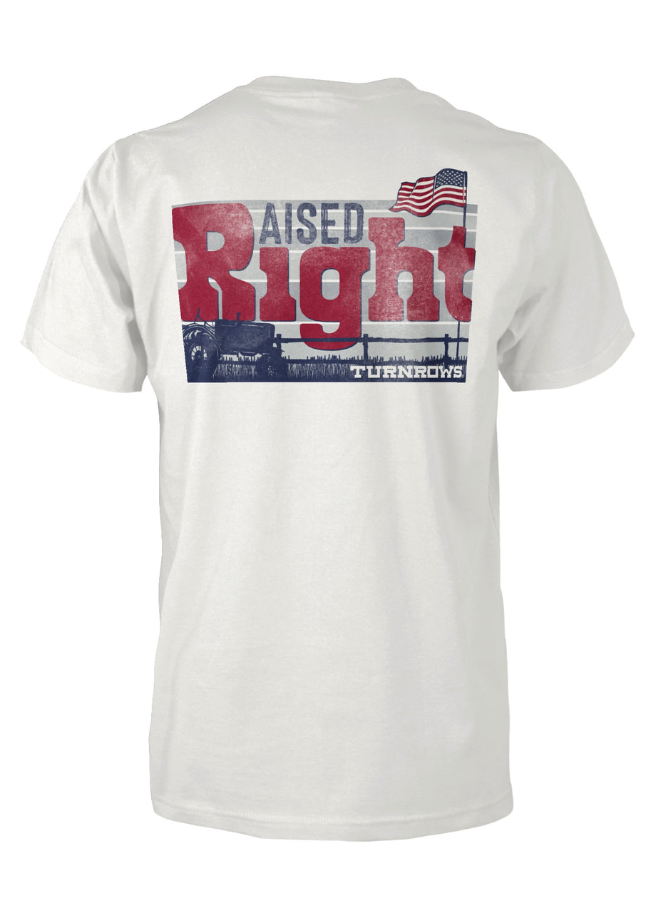 Raised Right Short Sleeve Pocketed Tee