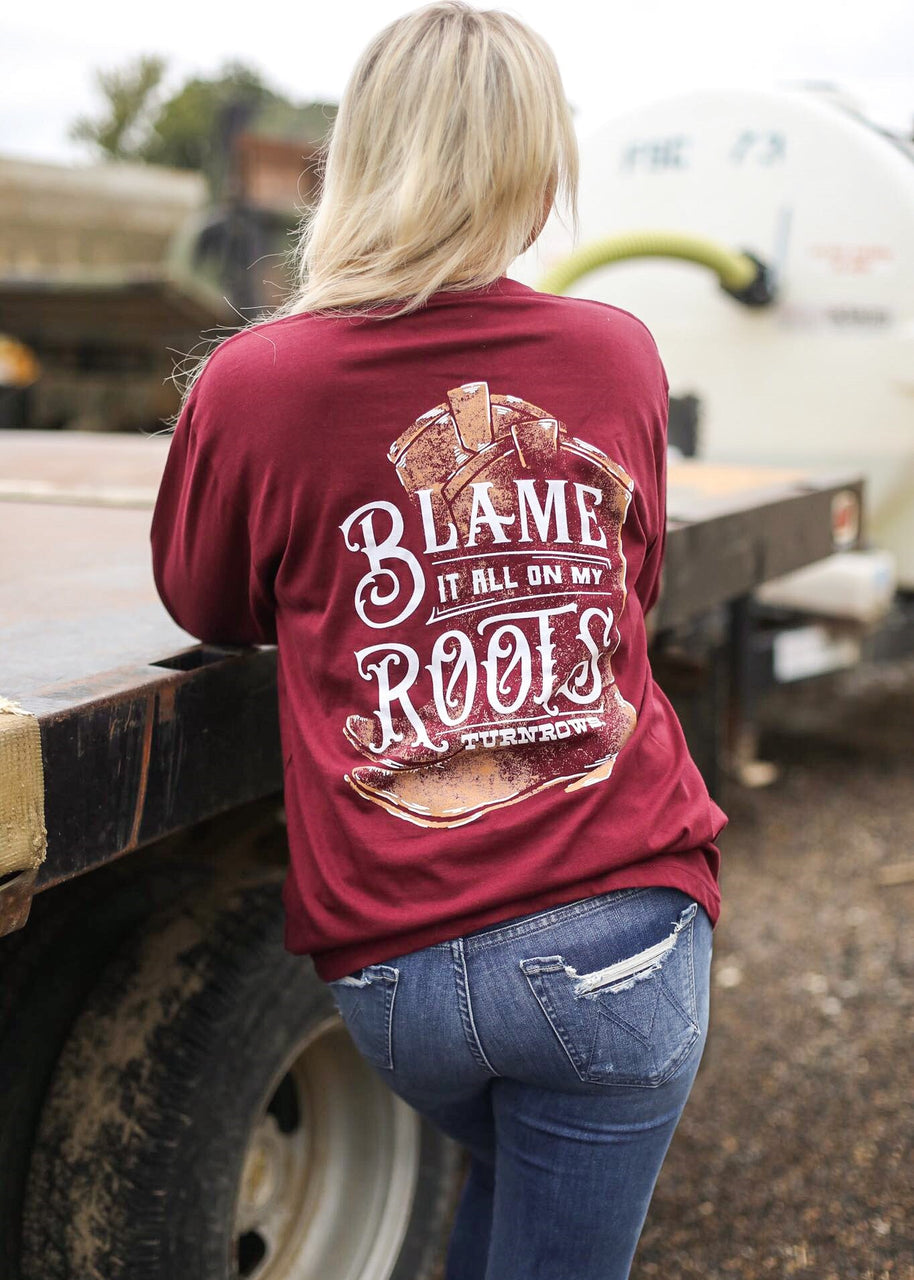 Blame it all on My Roots Long sleeve Tee