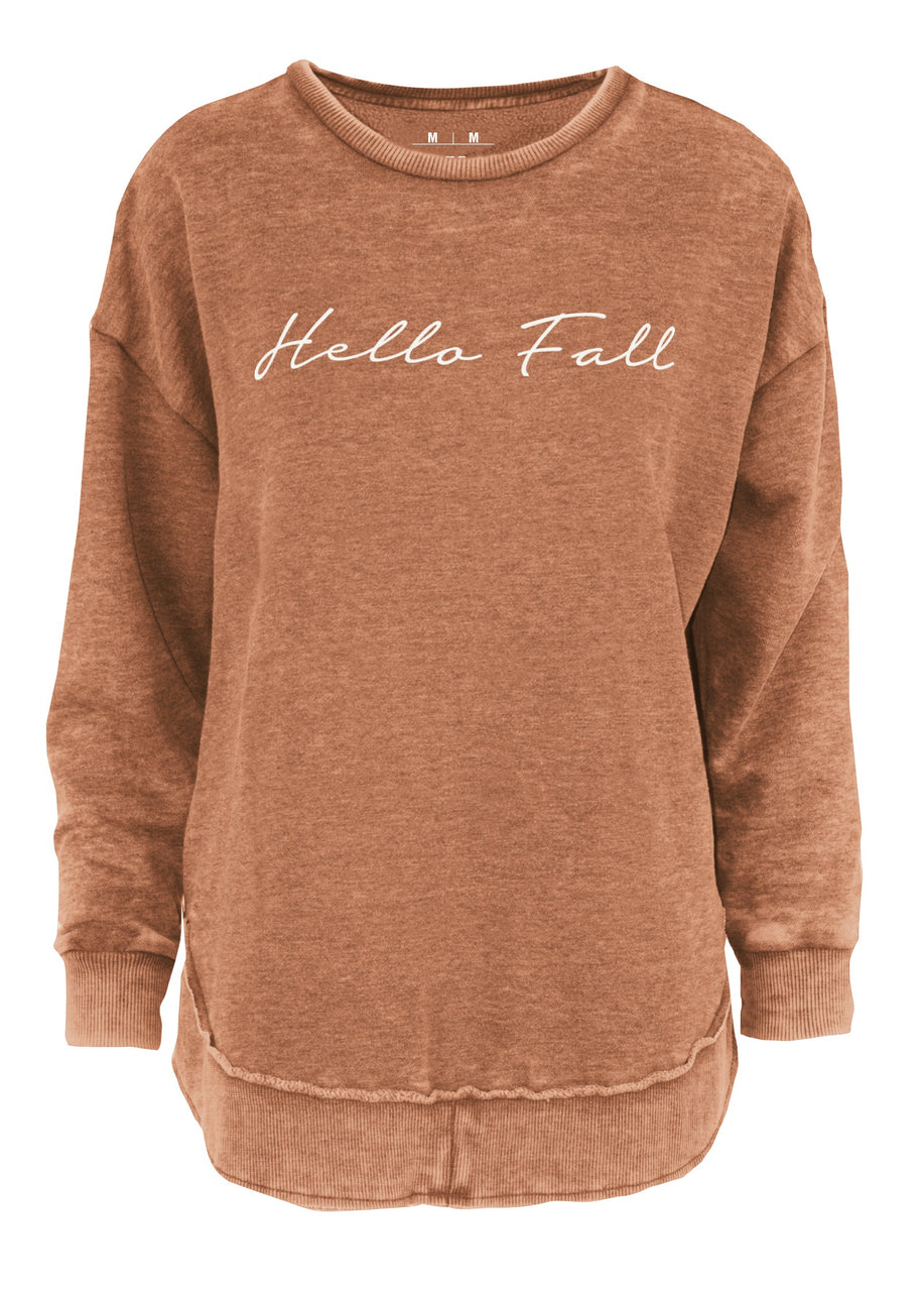 Hello Fall Vintage Washed Fleece