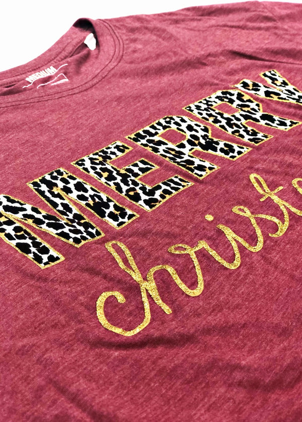 Turnrows Leopard Christmas Tee