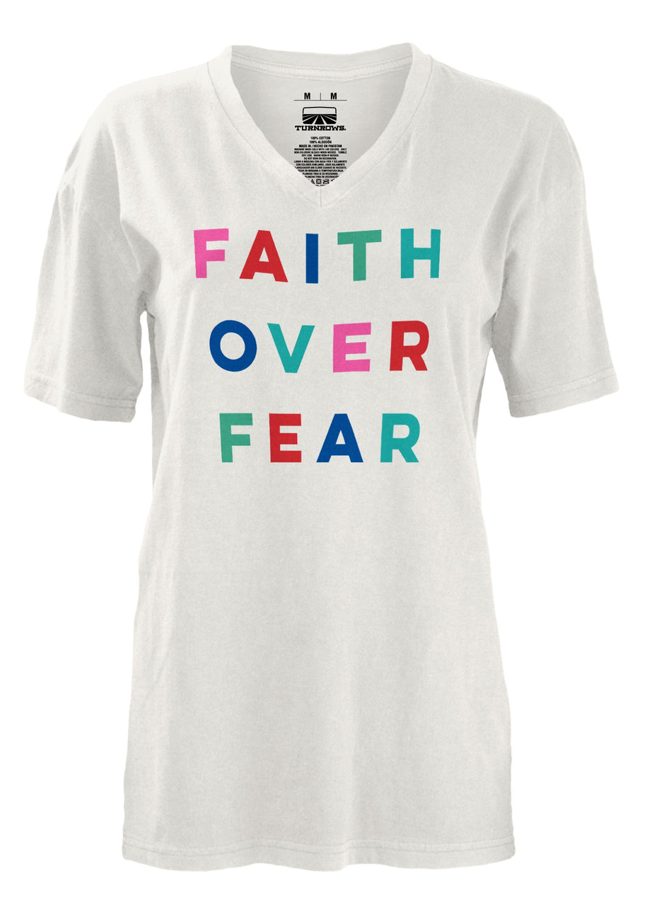 Faith Over Fear V-Neck Tee