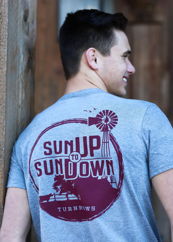 Sun up to sun down farmer rancher t-shirt