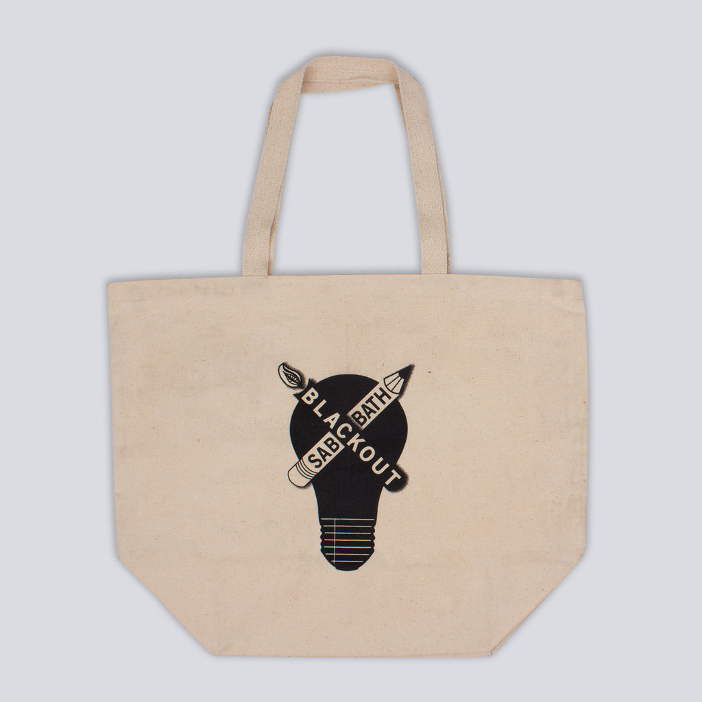 'Blackout Sabbath' Cream Tote