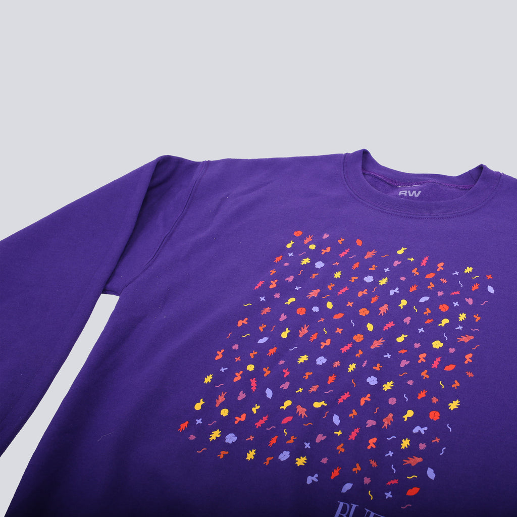 'Small Leaves' Crewneck Sweatshirt