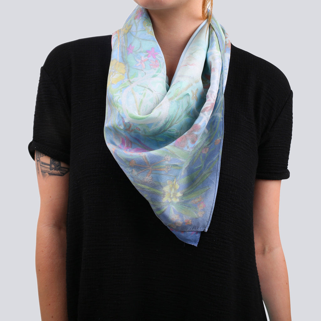 Rufus Wainwright Silk Floral Scarf