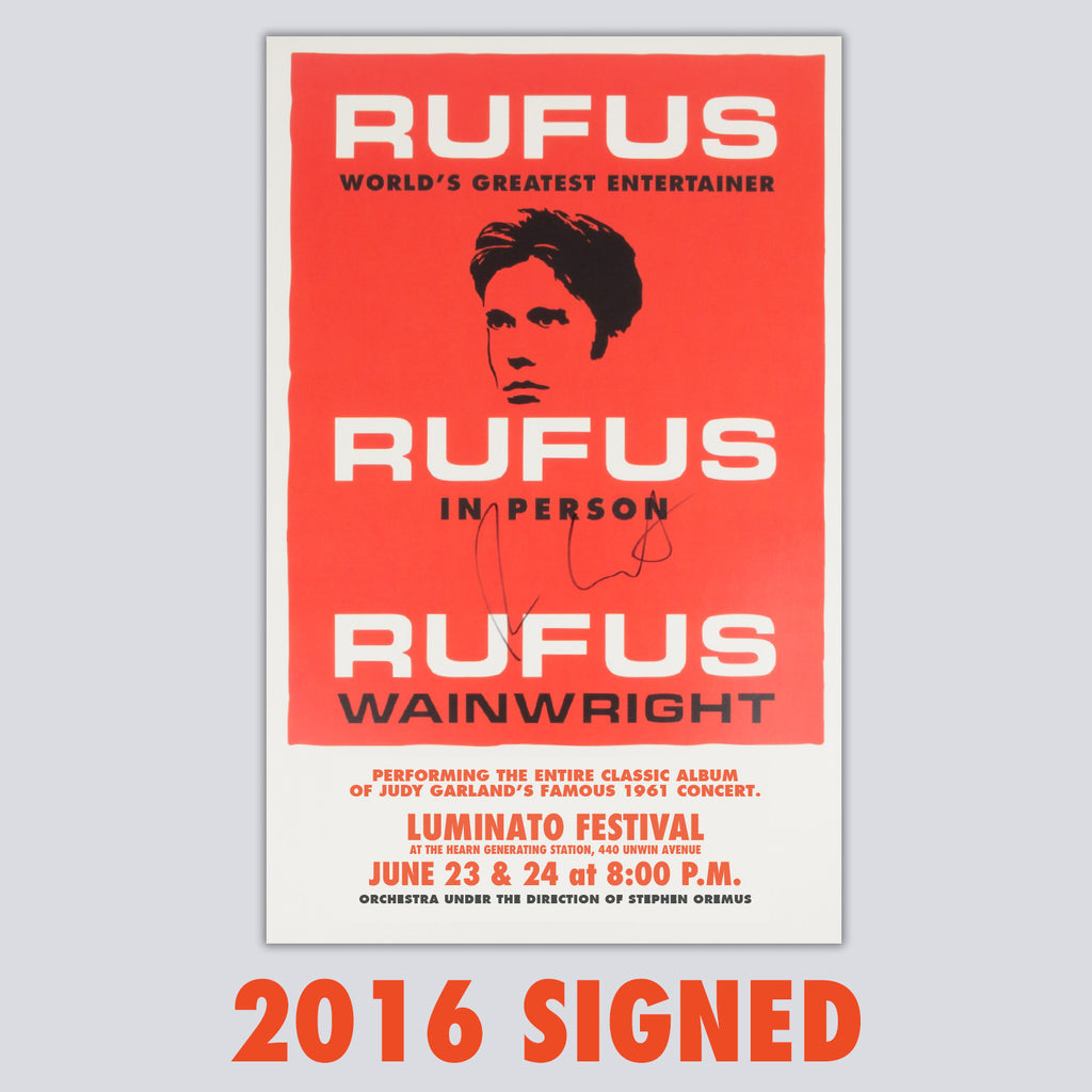 SIGNED 'Rufus Does Judy' 2016 Toronto Poster
