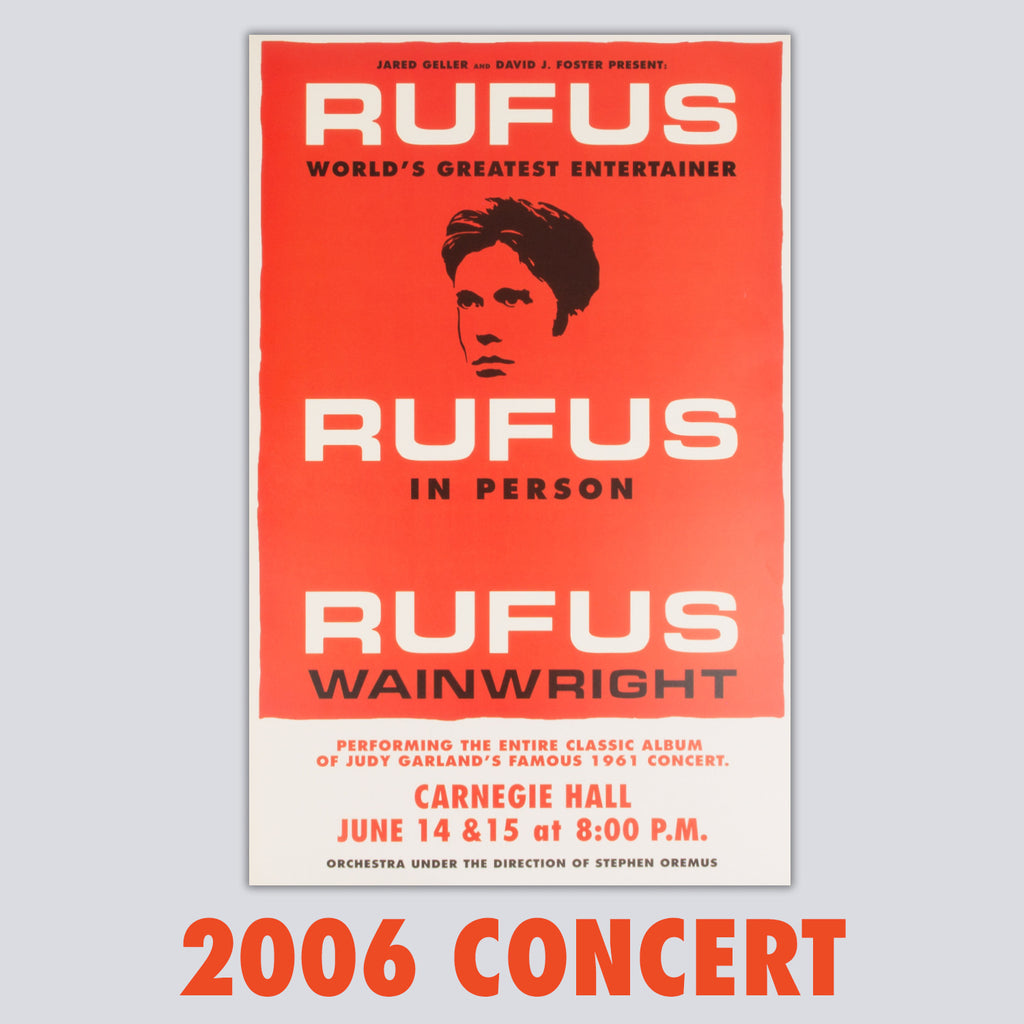 ORIGINAL 'Rufus Does Judy' 2006 Carnegie Hall Poster