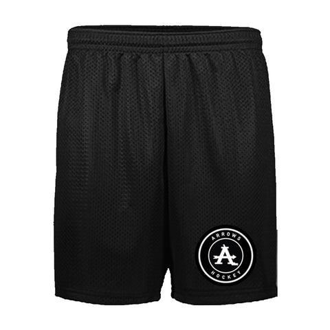 Arrows | Black Mesh Short