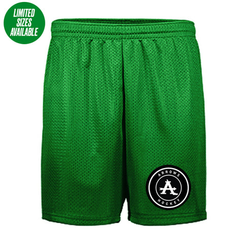 Arrows | Green Mesh Short