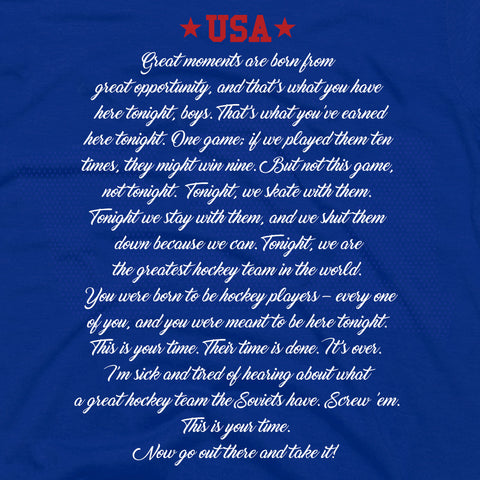 USA - Herb Brooks | Hockey Laced Hoodie