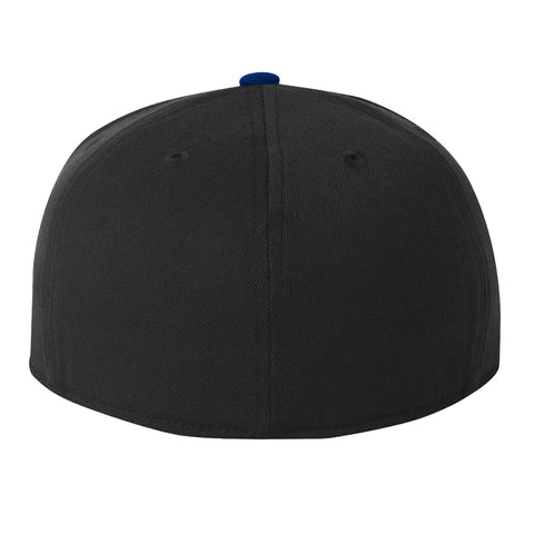 We Bleed Blue Flexfit Fitted Cap - Black & Blue