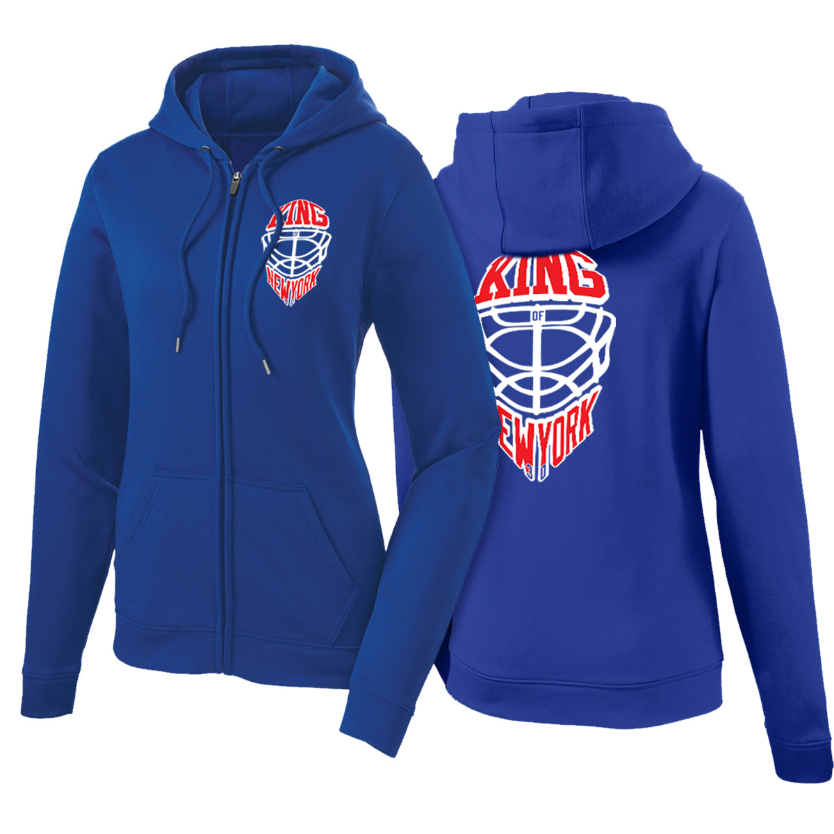 King of NY | Polyester Zip-Up Hoodie | Women's