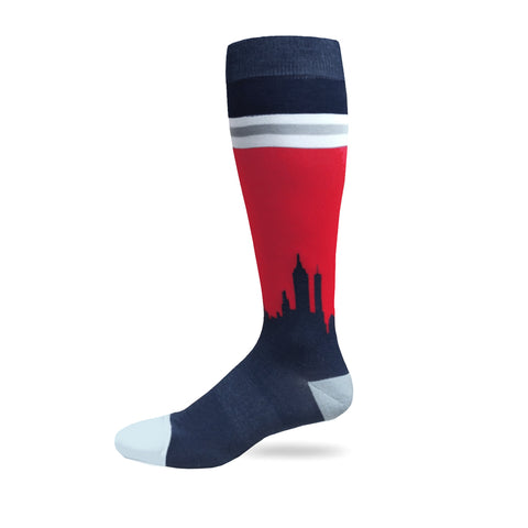 We Bleed Blue Performance Dress Socks™ | Liberty Skyline Sock