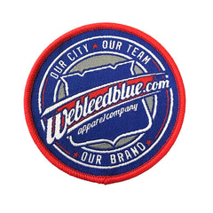 "2.5"" Woven Patch - We Bleed Blue Logo"