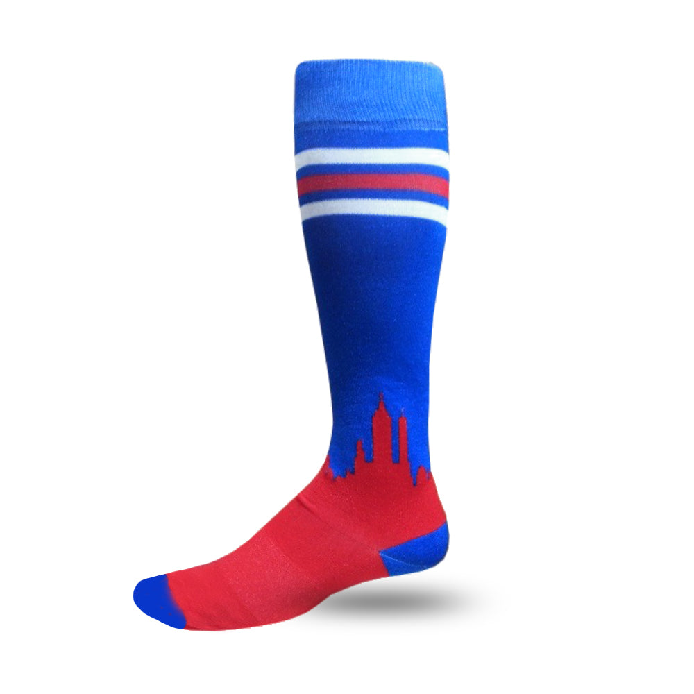 We Bleed Blue Performance Dress Socks™ | Royal Skyline Sock
