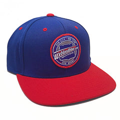 We Bleed Blue Snapback - Royal Blue & Red
