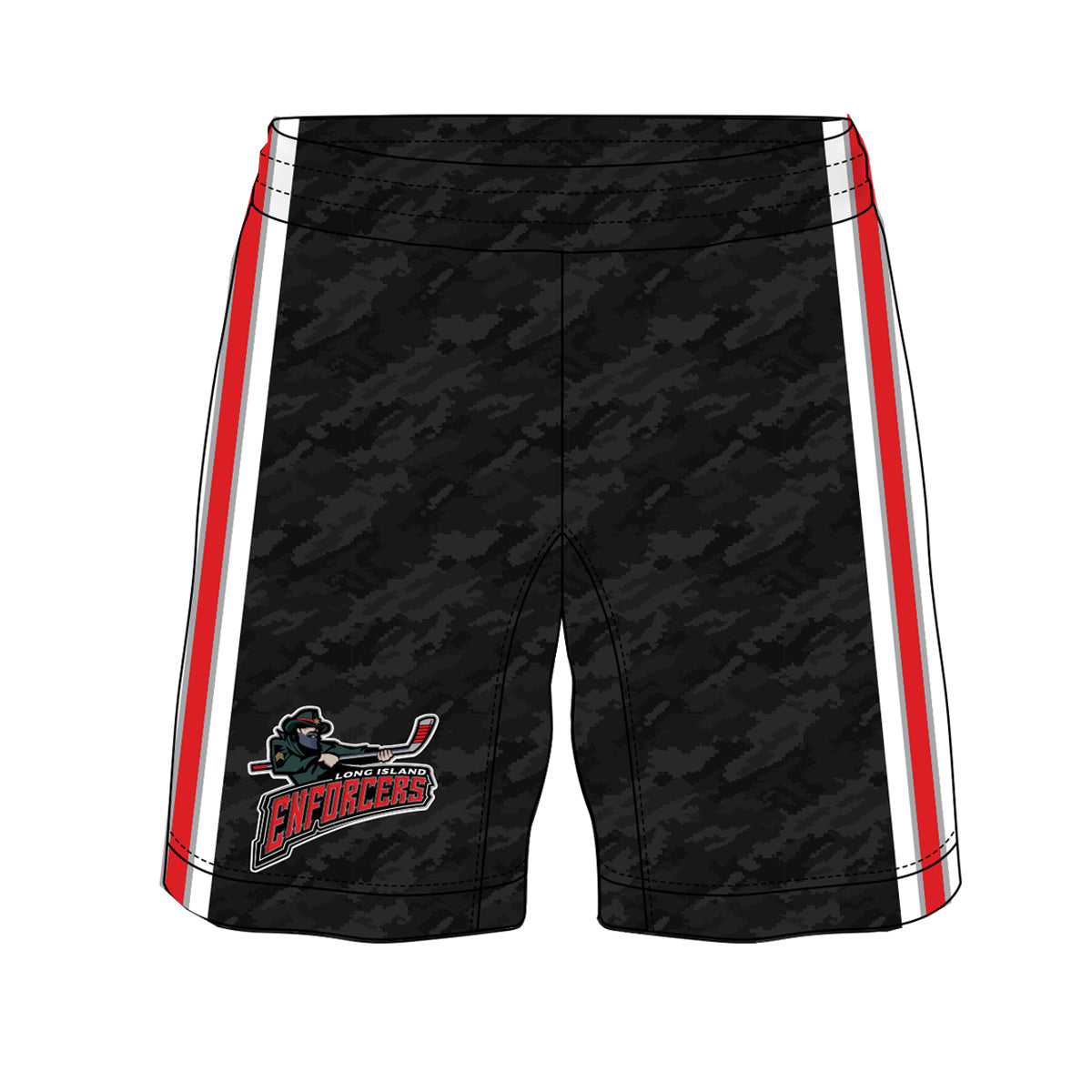 ENFORCERS | Sublimated Shorts - Black DigiCamo