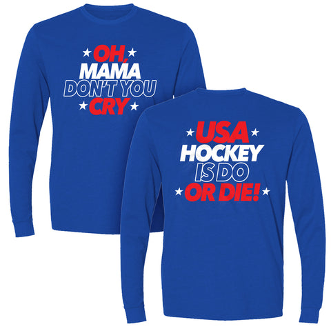 Oh Mama Don't You Cry | Long Sleeve Sueded Tee
