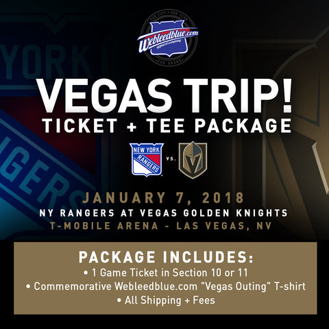 NY Rangers at Vegas Golden Knights Ticket & Tee Package - 1/7/18