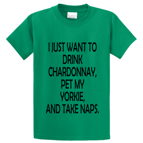 Drink Chardonnay Pet Yorke And Take Naps - Zapbest2  - 2