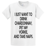 Drink Chardonnay Pet Yorke And Take Naps - Zapbest2  - 1