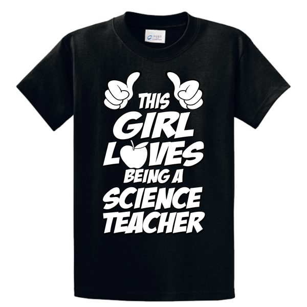 This Girl Loves Being Science Teacher - Zapbest2  - 2