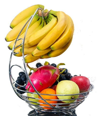 Fruit Basket With Banana Holder - Zapbest2  - 1