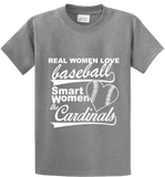 Real Women Love Base Ball, Smart Women Love Cardinals - Zapbest2  - 4