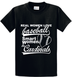 Real Women Love Base Ball, Smart Women Love Cardinals - Zapbest2  - 1