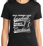 Real Women Love Base Ball, Smart Women Love Cardinals - Zapbest2  - 8