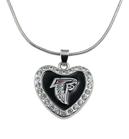 Falcons Heart Necklace - Zapbest2