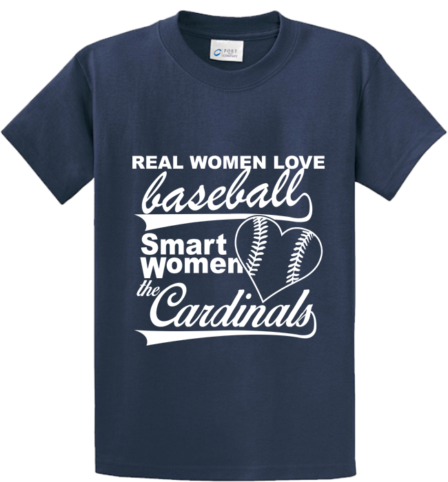 Real Women Love Base Ball, Smart Women Love Cardinals - Zapbest2  - 3