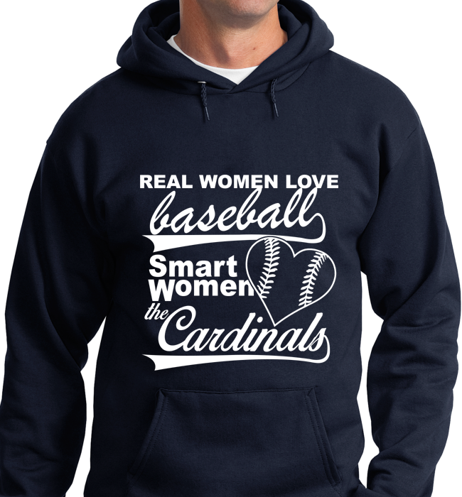 Real Women Love Base Ball, Smart Women Love Cardinals - Zapbest2  - 7