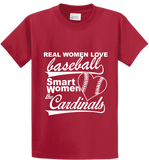 Real Women Love Base Ball, Smart Women Love Cardinals - Zapbest2  - 2