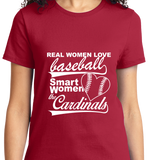 Real Women Love Base Ball, Smart Women Love Cardinals - Zapbest2  - 9