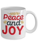 Knightmare before christmas mug - Peace and Joy - Funny Christmas Gift Mugs, Christmas Gifts for family Ceramic Cup White, Funny Mugs Gift Ideas 11 Oz