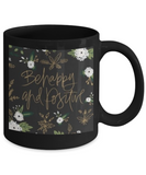 Proverbs Bible quotes , Be happy and positive - Black Coffee Mug Tea Cup 11 oz Gift