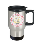 Religious coffee mugs , Live life in full blossom - Stainless Steel Travel Mug 14 oz Gift